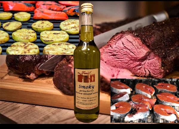 Smoky - natürliches Olivenöl extra mit natürlichem Raucharoma