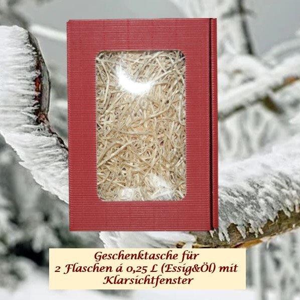Geschenkkarton für 2 Flaschen á 0,25 L (Essig & Öl)