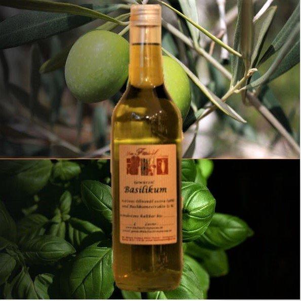 Gewürzöl Basilikum -natives Olivenöl extra-