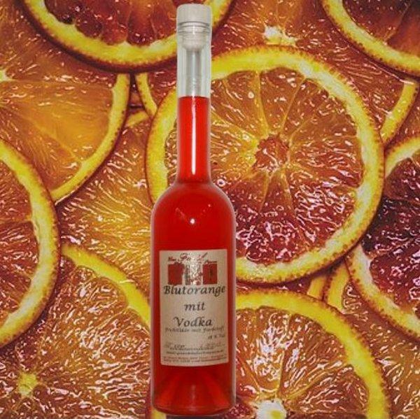 Blutorange  mit Wodka 18% Vol.
