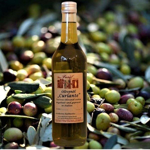 Olivenöl Curlante natives Olivenöl extra - Angebaut und hergestellt in Italien  erste Güteklasse – direkt aus Oliven ausschließlich  mit mechanischen Verfahren gewonnen