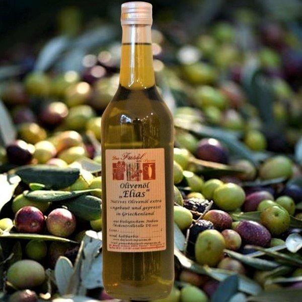 Olivenöl Elias natives Olivenöl extra - Angebaut und hergestellt in Griechenland - erste Güteklasse – direkt aus Oliven ausschließlich mit mechanischen Verfahren gewonnen