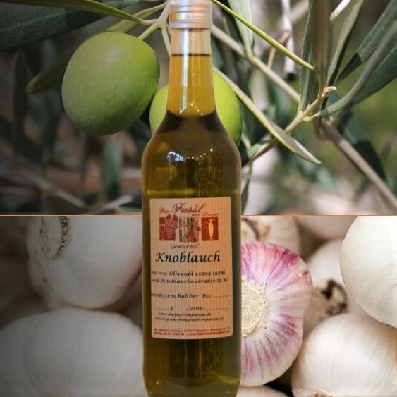 Gewürzöl Knoblauch -natives Olivenöl extra-