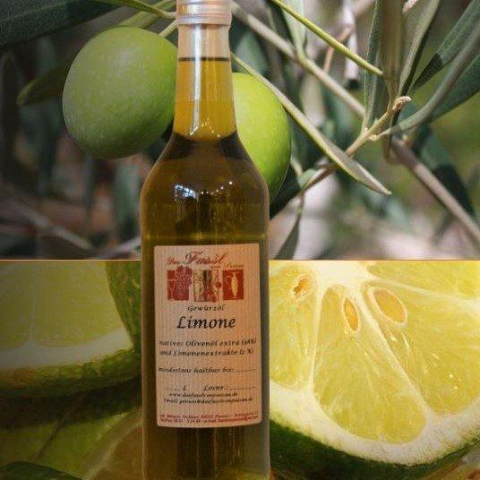 Gewürzöl Limone -natives Olivenöl extra-
