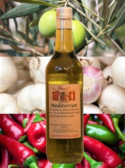 Gewürzöl Mediterran -natives Olivenöl extra-