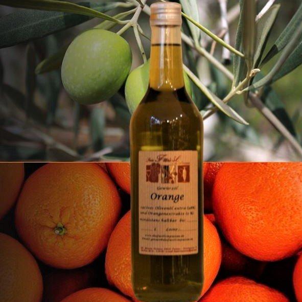 Gewürzöl Orange -natives Olivenöl extra-