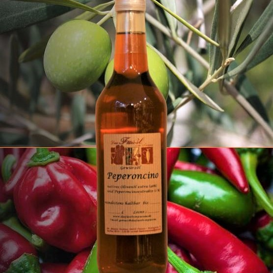Gewürzöl Peperoncino -natives Olivenöl extra-
