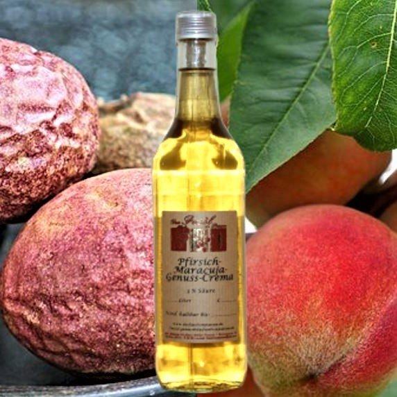 Pfirsich-Maracuja-Genuss-Crema 3% Säure