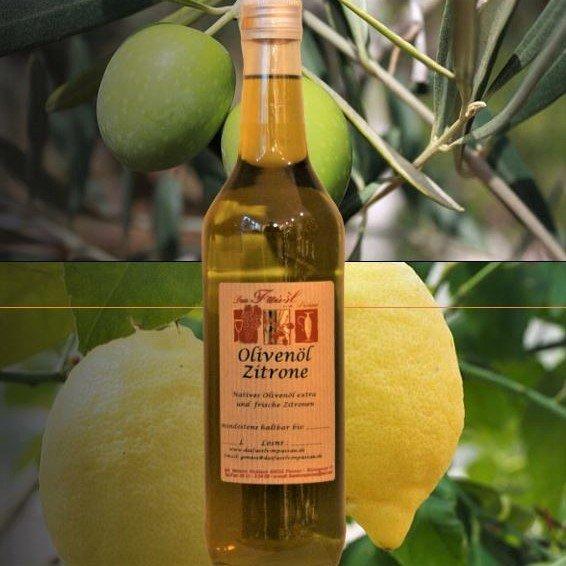 Olivenöl Zitrone -natives Olivenöl extra-