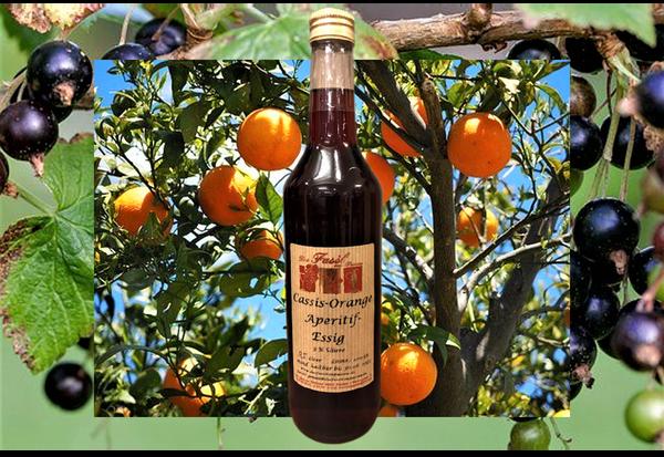 Cassis-Orange Aperitifessig 3 % Säure
