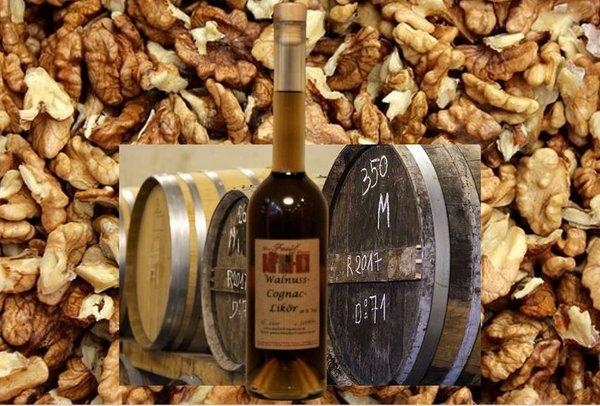 Walnuss-Cognac-Likör 28 % Vol.